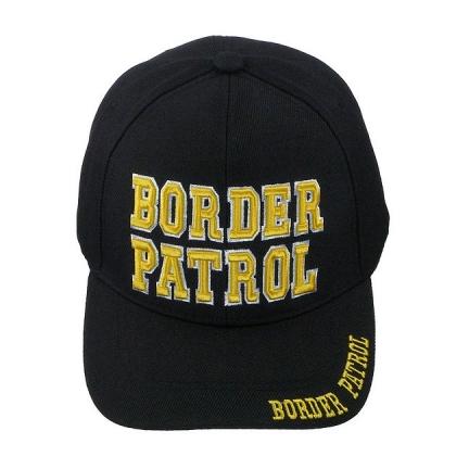 border patrol 3 d high definition embroidered velcro back hat