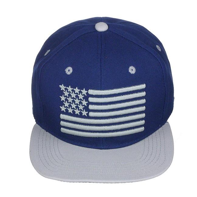 USA Flag High Definition 3D Embroidery Flat Bill Snapback